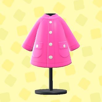 あつ森のレインコートのピンク