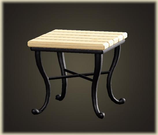 あつ森のナチュラルなスクエアテーブル