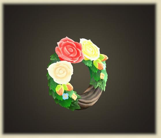 あつ森のバラのリース