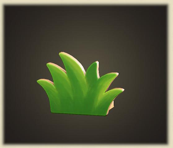 あつ森のハリボテの草