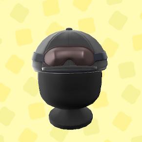 あつ森のジョッキーヘルメットのブラック