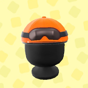 あつ森のジョッキーヘルメットのオレンジ