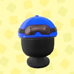 あつ森のジョッキーヘルメットのブルー