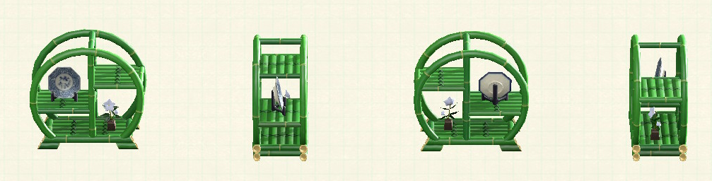 あつ森の竹のシェルフのリメイク青竹パターン