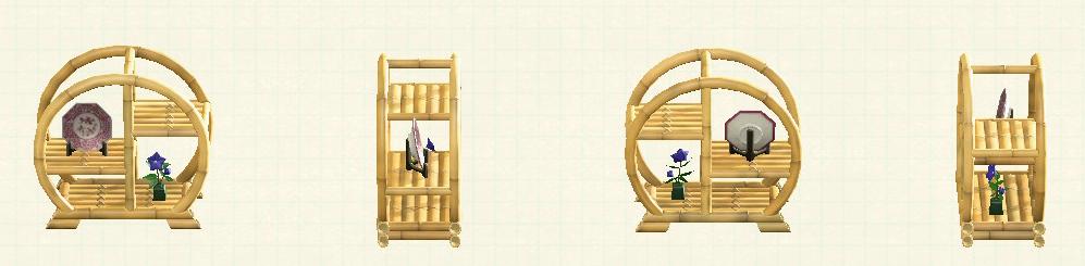 あつ森の竹のシェルフのリメイク枯竹パターン