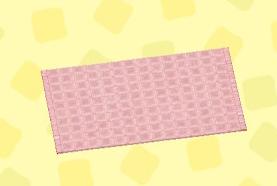 あつ森のピンクのシンプルバスマット