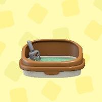 あつ森のネコのトイレのブラウン