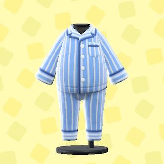あつ森のパジャマのブルー
