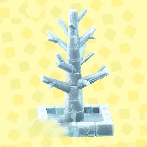 あつ森のこおりのツリーのアイス