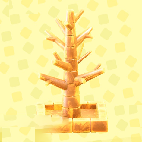 あつ森のこおりのツリーのアイスイエロー