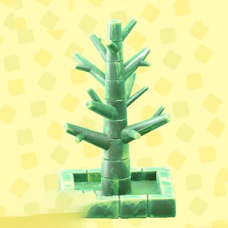 あつ森のこおりのツリーのアイスグリーン