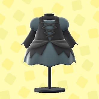 あつ森のまほうつかいのドレスのブラック