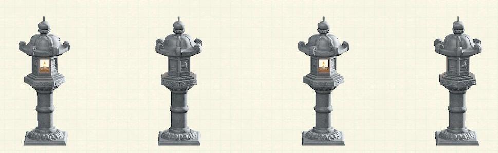 あつ森の灯篭のリメイクナチュラルパターン