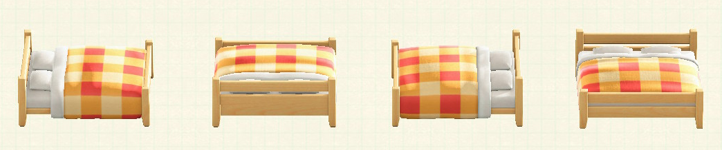 あつ森の木製ダブルベッドのリメイクマイデザインパターン