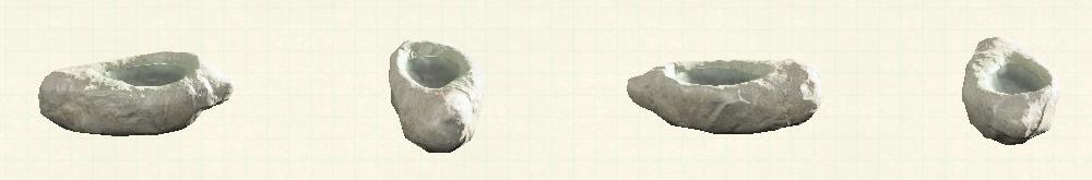 あつ森のいしのみずうけのリメイク白パターン