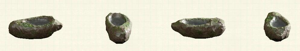 あつ森のいしのみずうけのリメイク苔石パターン