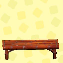 あつ森のたけのベンチの煤竹