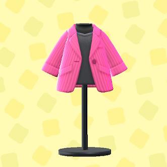 あつ森のキャリアなジャケットのピンク