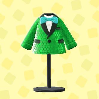 あつ森のコメディアンな服のグリーン