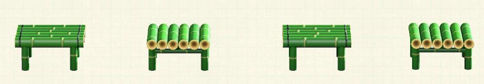 あつ森の竹のスツールのリメイク青竹パターン