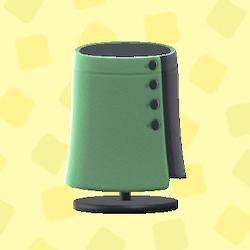 あつ森のボタンのまきスカートのグリーン