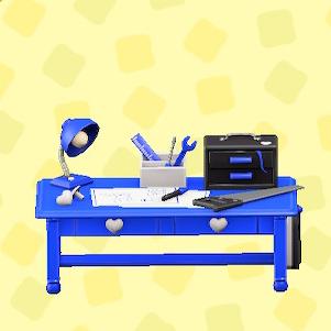 あつ森のキュートなDIYテーブルのブルー