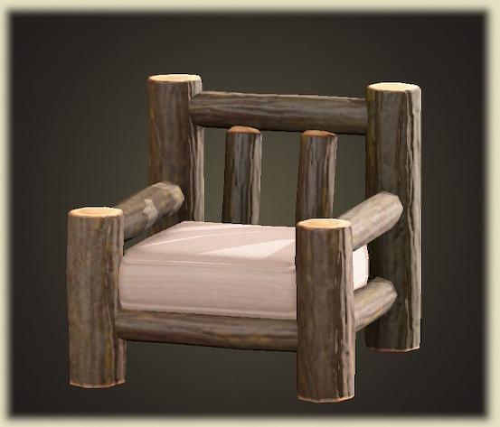 あつ森の丸太のソファ