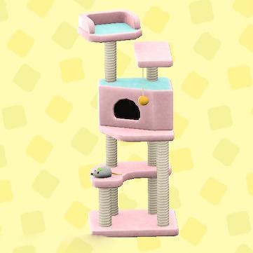 あつ森のキャットタワーのピンク
