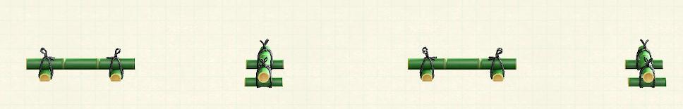 あつ森のたけのくるまどめのリメイク青竹パターン