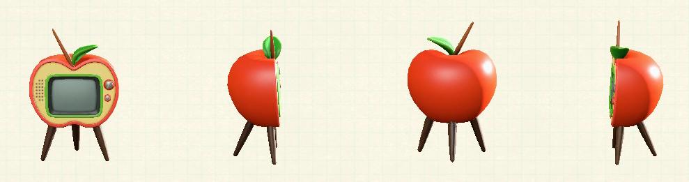 あつ森のリンゴのテレビの赤リンゴパターン