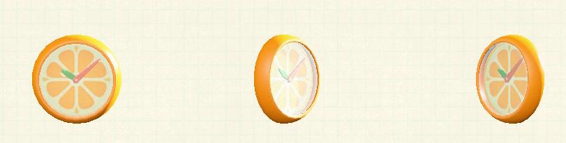 あつ森のオレンジのかべかけどけいのリメイクオレンジパターン