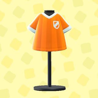 あつ森のサッカーのユニフォームのオレンジ