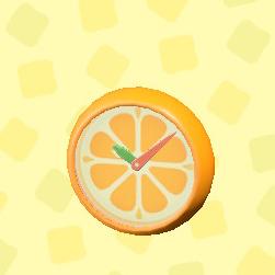 あつ森のオレンジのかべかけどけいのオレンジ