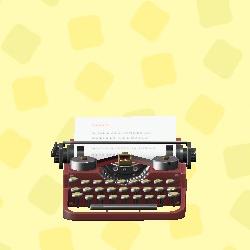 あつ森のタイプライターのブラウン