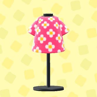 あつ森のはながらのTシャツのピンク