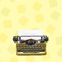 あつ森のタイプライターのゴールド
