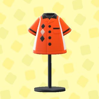 あつ森のボウリングシャツのオレンジ