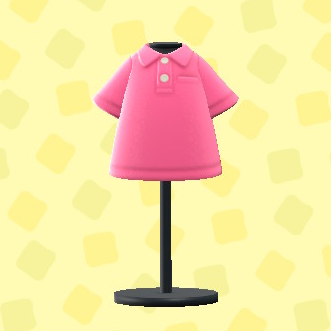 あつ森のポロシャツのピンク