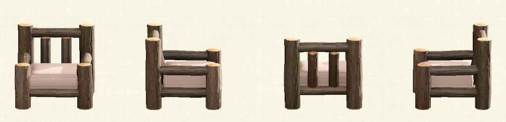 あつ森の丸太のソファのリメイクマイデザインパターン