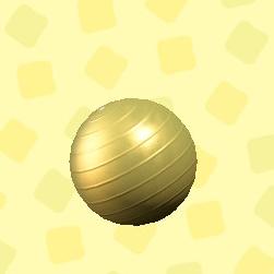 あつ森のバランスボールのゴールド