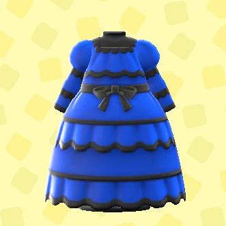 あつ森のセニョリータなドレスのブルー