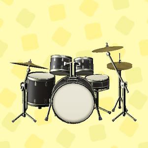 あつ森のドラムセットのコスモブラック