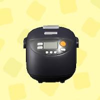 あつ森の炊飯器のブラック