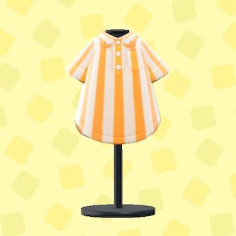 あつ森のオーバーストライプシャツのオレンジ