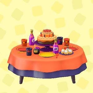 あつ森のバースデーテーブルのオレンジ