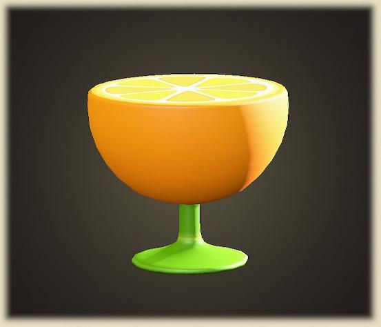 あつ森のオレンジのサイドテーブル