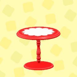 あつ森のキュートなティーテーブルのレッド