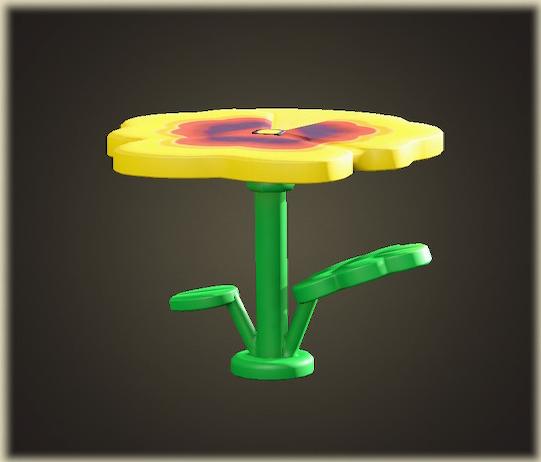 あつ森のパンジーのテーブル
