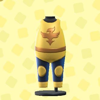 あつ森のプロレススーツのイエロー