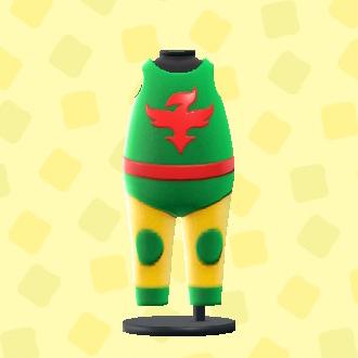 あつ森のプロレススーツのグリーン